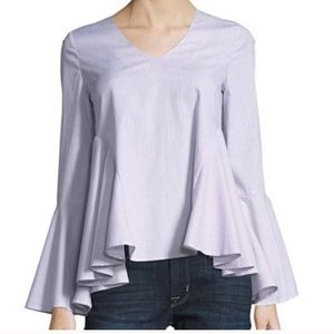 Romeo & Juliet Couture Poplin Bell Sleeve Top